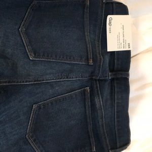 Gap jeans stretch 26R crop flare high rise